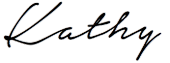 Kathy's Signature in Black