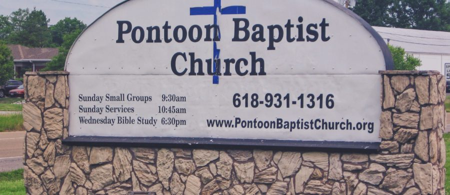 Pontoon Baptist Church Sign