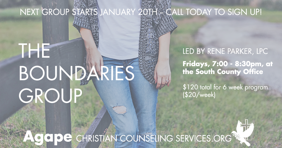 Boundaries Group starts Jan 20th at South County St Louis office