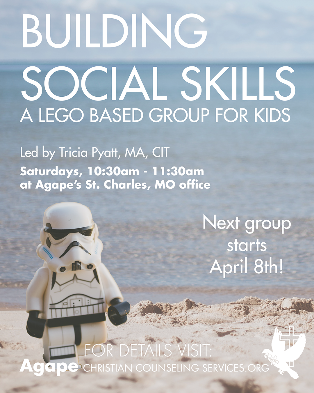 Building Social Skills Lego Group - Storm Trooper on Beach Apr 8th