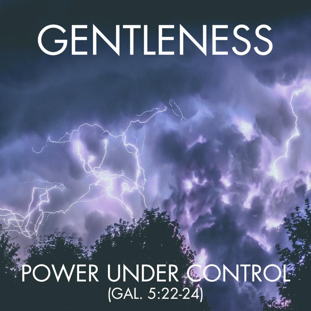 gentleness - Gal 5.22-24